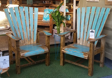 recycled wooden furniture. Recycled Timber / Aqua Adirondak Chairs. Chair Set Wooden Furniture