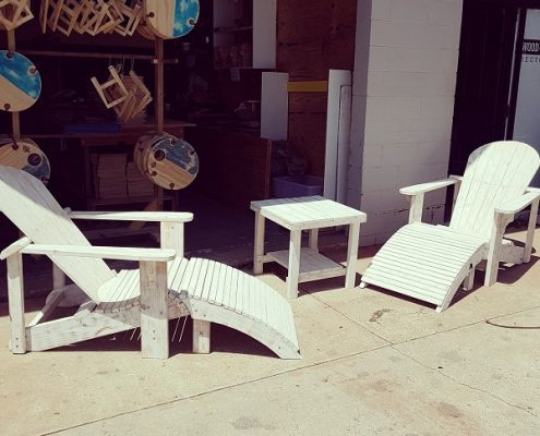 Recycled Timber Pool Chairs
