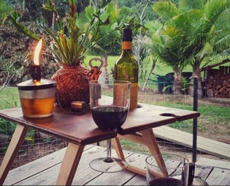 Folding Wine Table